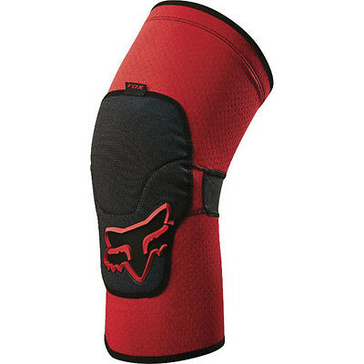 Fox Mtb Launch Enduro Mens Body Armour Knee Pads - Red All Sizes