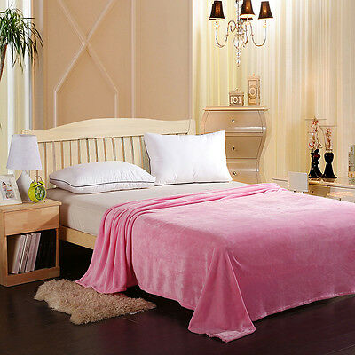 Brand New Coral Fleece Blanket Queen/King Size Soft Pink