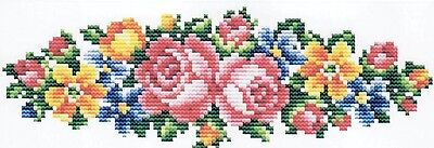 Rose 18CT counted cross stitch bookmark kit, 17cm x 7cm fabric. CSK0249