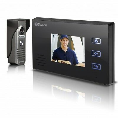 """Swann Video Doorphone bell Intercom With Colour 3.5"""" LCD Monitor, wired security"""