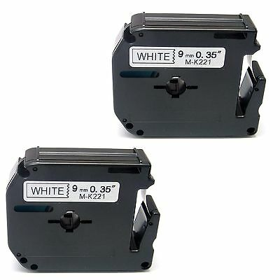 2x compatible with Brother P-touch M-K221 MK221 Tape PT80 PT100 PT110