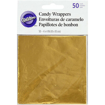 Wilton Gold Foil Treat Wrappers - Lollies, Chocolate, Sweets, Wedding bomboniere