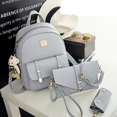Fashion Women's Girls Leather Travel Shoulder Backpack School Rucksack Bags