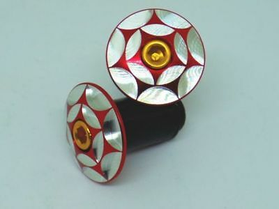 "XON Full CNC Barend Cap W/ Lanyu Concentric Circle Pattern ""Red/Silver"""