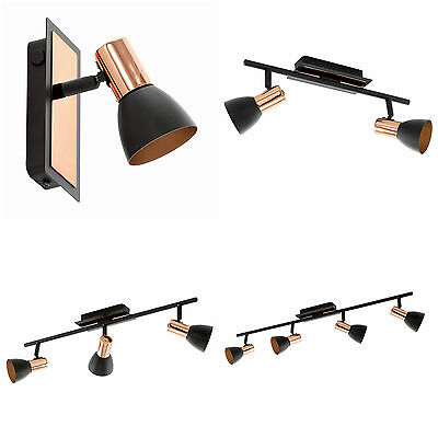 Led Copper And Black Ceiling Wall Spot Light Modern Barnham- By Eglo Of Austria