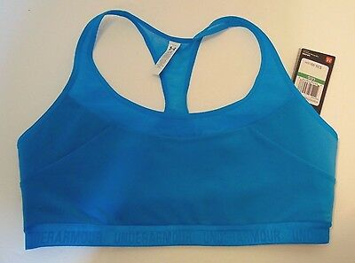NWT Under Armour Blue Sports Bra - Mid Impact Support Size Large