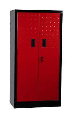 Hilka Tool Cabinet Garage Tall Tool Storage Cupboard Box Chest Red Black