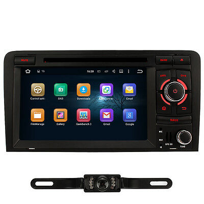 Free Camera + Android 5.1 CAR Stereo Sat Nav DVD GPS For Audi A3 Bluetooth DAB+