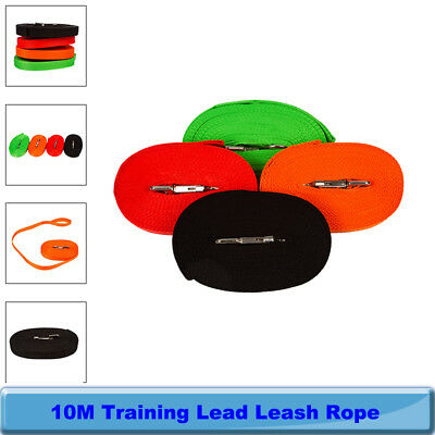 10M Dog Pet Puppy Training Tracking Lunge Obedience Lead Leash Rope 4 colours