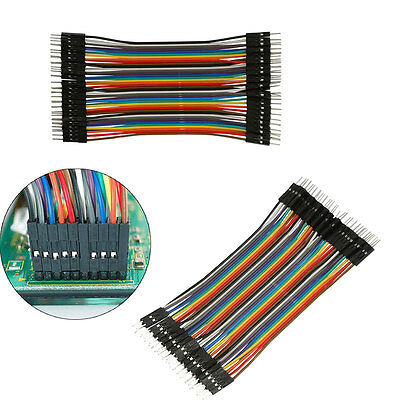 40Pcs/Row 13cm 2.54mm Male to Male Jump Wire Jumper Ribbon Cable Line Breadboard
