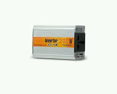 KOMRT 200W Power Inverter Car DC 12V to 220V AC Converter with AC Outlet and On