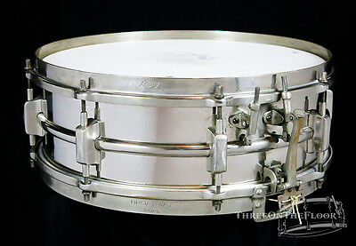 1930s Leedy Broadway Dual Snare Drum 5x14 : Vintage Brass Shell Nickel