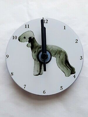 Bedlington Terrier CD Clock by Curiosity Crafts