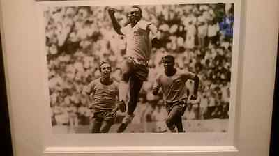 hand signed limited edition pele picture