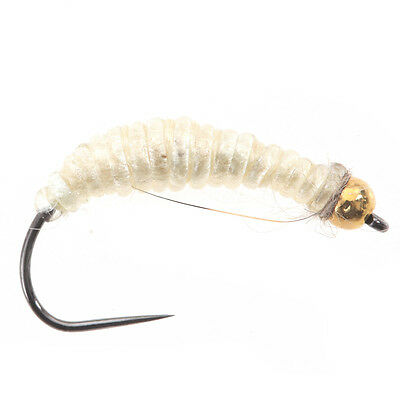 Tungsten BH Case Free Caddis Cream - (Tungsten Beads Nymphs, Fishing Flies)