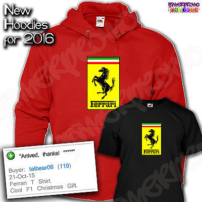 Ferrari T Shirt - Mens Birthday Gift Idea - All Sizes Hoodies Available