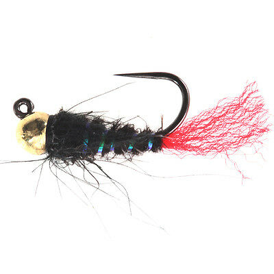 Black Pink CDC Caddis Jig - (Tungsten Beads Nymphs, Fishing Flies)