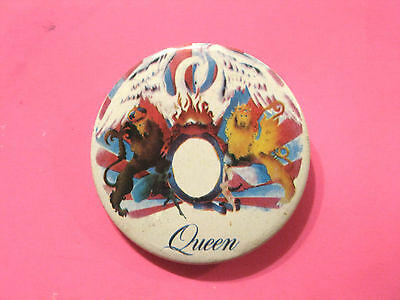 Queen Large Vintage Button Badge Pin Uk Import