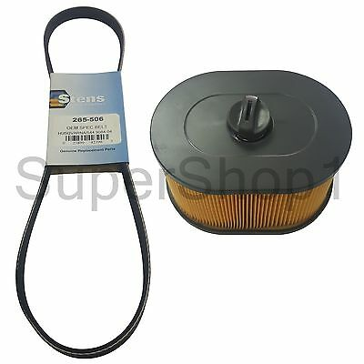 "16"" Belt + Air Filter For Husqvarna K970 Concrete Cut-Off Saw Rep 510244103"