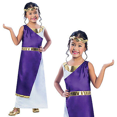 Christys Dress Up Roman Girl Toga Greek Goddess Book Day New Fancy Dress Costume