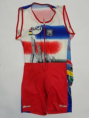 Completo Salopette Ciclismo Uci Santini Tg.xxl Cycling Italy Cycles Jersey 196