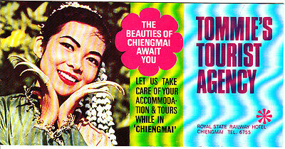 Tommie's Tourist Agency The Beauties of Chiengmai Thailand Vintage Booklet 1969