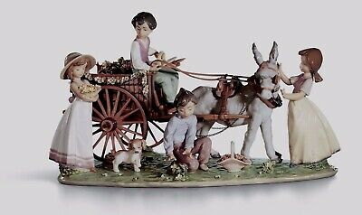 LLADRO Limited Edition Children donkey 01001797 ENCHANTED OUTING  1797 Brand New