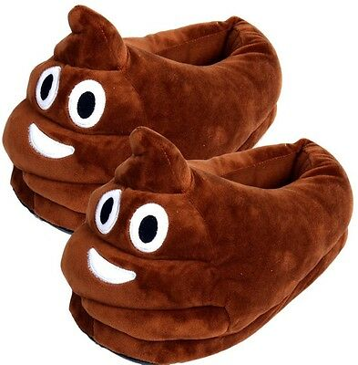 Emoji Cartoon Unisex Slippers Poo Style Free Shipping From USA