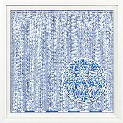 Moscow Bright  White Lead Weighted Hem Net Curtain Sold Per Metre Free Postage