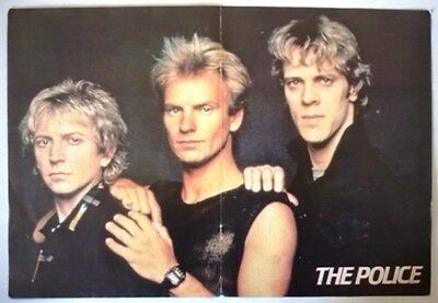The Police Sting Color Poster Argentina 80's Rare Genesis Terence Trent D'arby