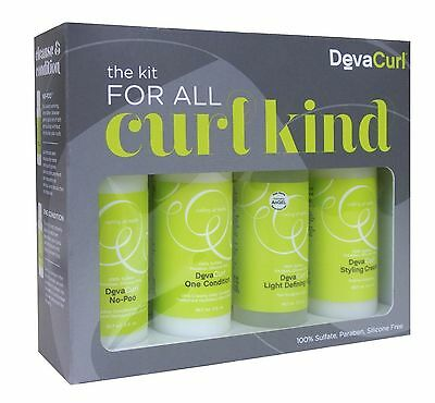 DevaCurl The Kit For All Curl Kind Styling Cream Light Defining Gel Brand New