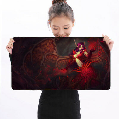 Rubber Speed Gaming Mouse Pad Large Keyboard Mat 700x300x3mm For LOL Diablo DOTA