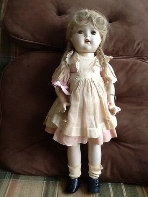 """Madame Alexander McGuffy Ana Composition 19"""" doll. + outfit. many issues! AS IS"""
