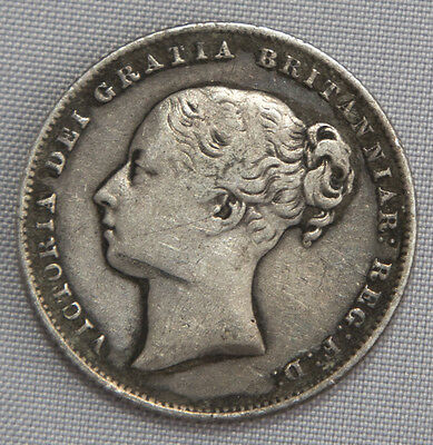 Great Britain Silver Shilling 1860