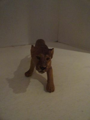 Vintage - Female Wlid Animal Lion - Rubber Toy Figure Lioness  7 1/2 Inches Long