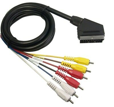 Cavo Cable Adattatore Scart a 6 RCA Video Audio 1.2 Metri