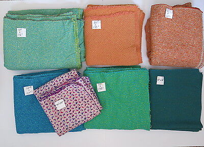 VINTAGE McNutt Irish Tweed Woven Wool Fabrics 7 Large Pieces Yards 15 Pounds 742