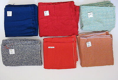 VINTAGE McNutt Irish Tweed Woven Wool Fabrics 6 Large Pieces Yards 13 Pounds 743