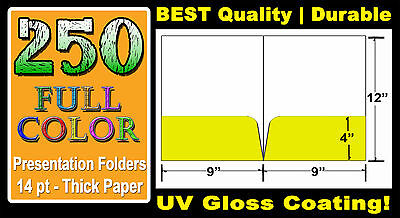 "250 CUSTOM PRESENTATION FOLDERS | 9"" x 12"" 