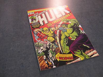 Facsimile reprint covers only to HULK, #181, 1st Wolverine