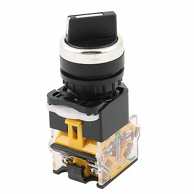 uxcell LA38/203 22mm Panel Mount NO/NC DPST 2 Position Rotary Selector Switch