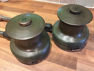 Pr Bronze Vintage Yacht Winches Martime Marine Boat Ship