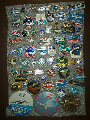 63  Pin Badges USSR (Russia) Planes aircraft  different № 14