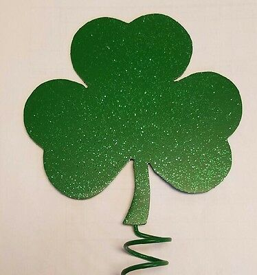 """St. Patrick's Day Clover Tree Topper Large 10""""x8 3/4"""""""