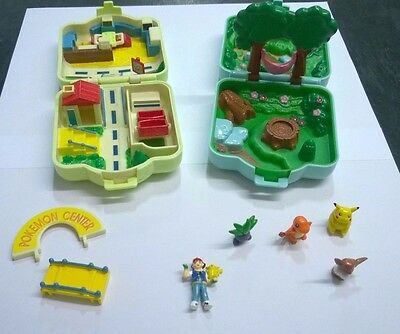 Pokemon Nintendo Mini Micro Playsets City & Forest  Adventure Hasbro 1997 Loose