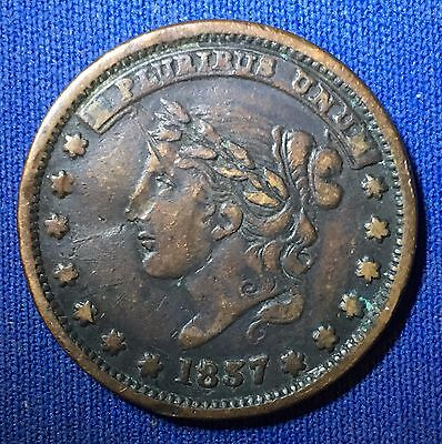 1837 NYC Hard Times Token - Millions For Defence, Not One Cent For Tribute