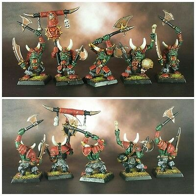 5X Orcos Negros Clasicos Orruks Orcos Y Goblins Pro Painted Warhammer