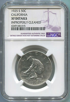 1925 S California Commemorative Half Dollar, NGC XF Details