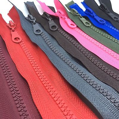 Chunky Open Ended Zip Plastic Teeth - Choice of 21 Colours & 11 Zipper Lengths