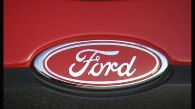 Red Ford Oval Gel Badge Focus Mondeo Fiesta Etc X2 (Free P&p)
